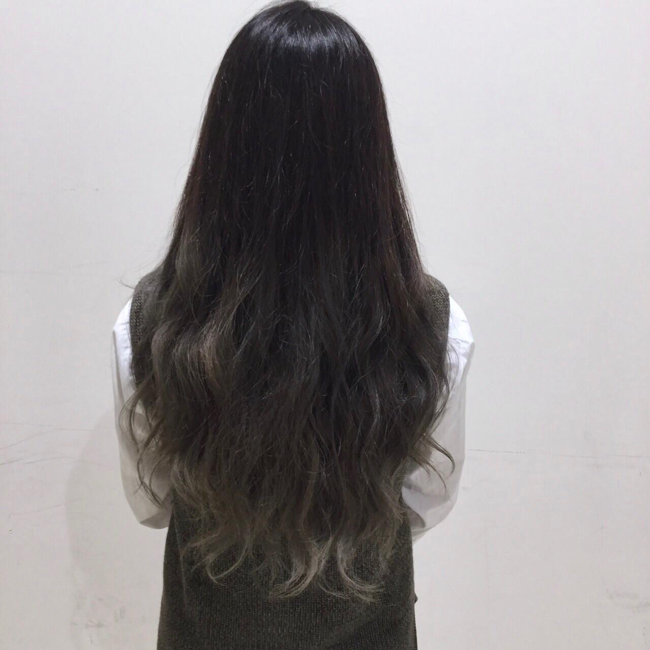ロング 黒髪 渋谷系 外国人風 ヘアスタイルや髪型の写真・画像 | カイセイ / AVNCE.