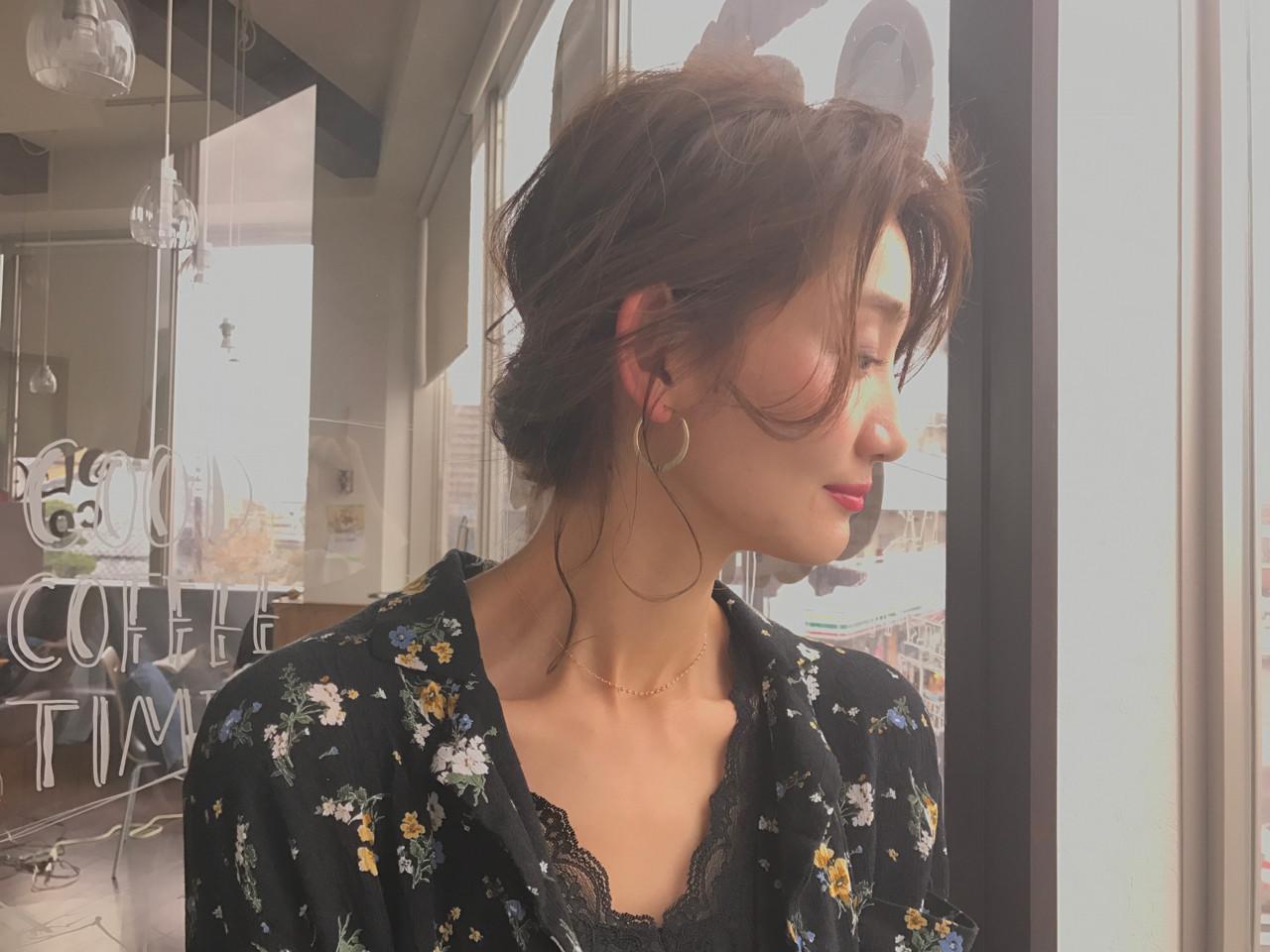 デート フェミニン こなれ感 二次会 ヘアスタイルや髪型の写真・画像 | 大越 勇嗣 / VISAGE Oak