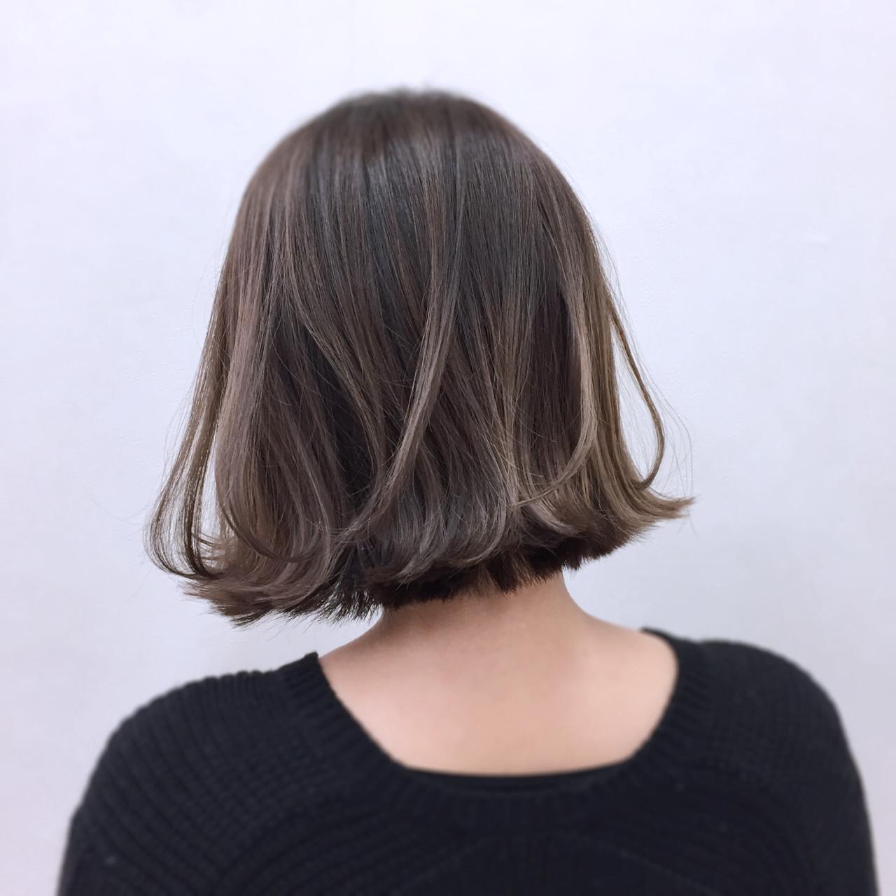 外ハネ ボブ ウェットヘア ガーリー ヘアスタイルや髪型の写真・画像 | YSO / 電髪倶楽部street