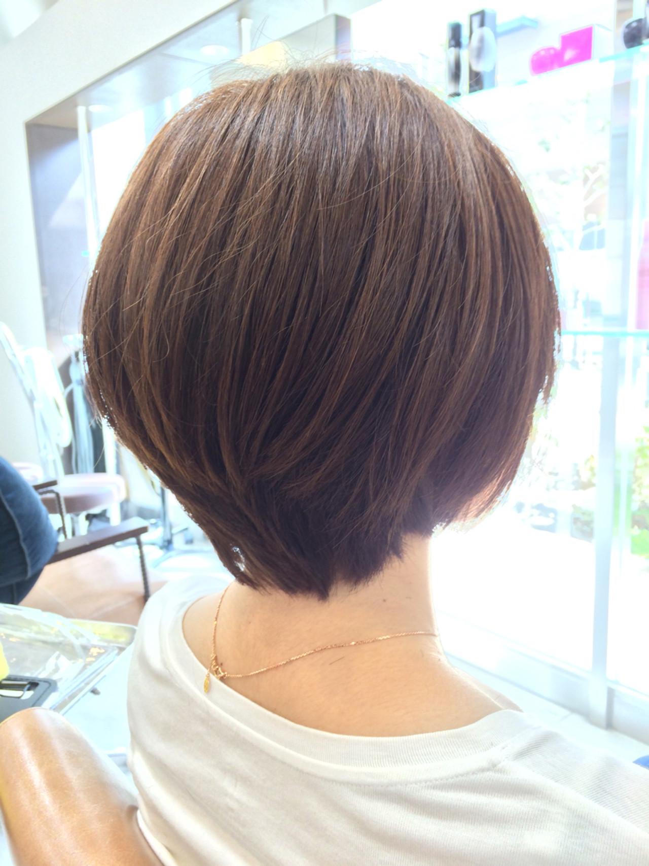 ナチュラル ボブ 大人女子 ショートボブ ヘアスタイルや髪型の写真・画像 | 藤田 祥平/brace / Soin de brace 大日店