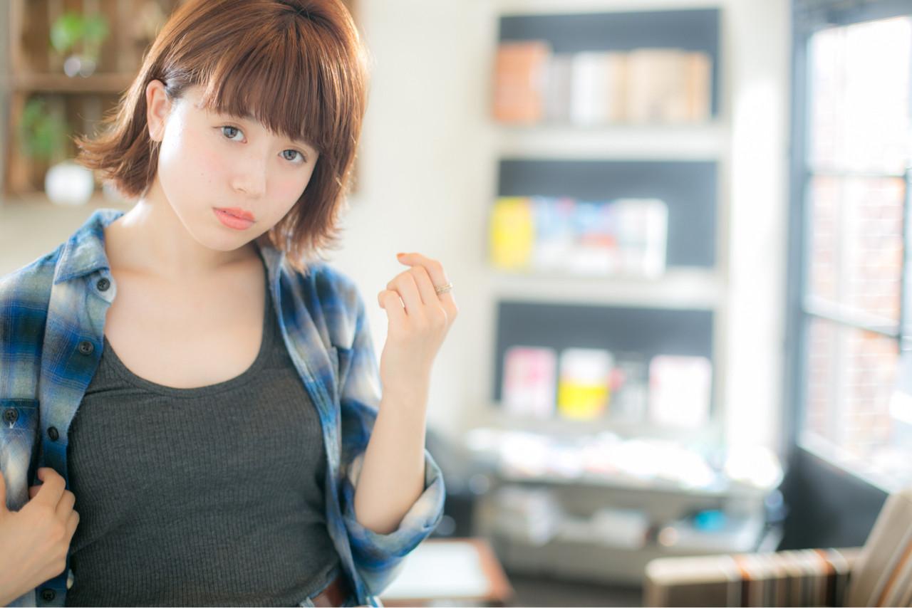 フェミニン ボブ 冬 ナチュラル ヘアスタイルや髪型の写真・画像 | 山岡 砂矢夏 /