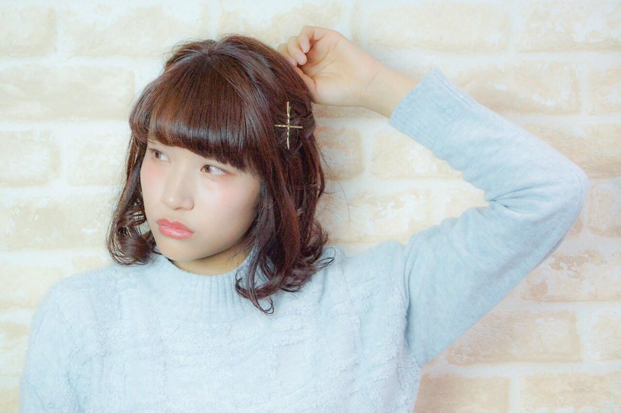 ショート ゆるふわ ヘアアレンジ ハーフアップ ヘアスタイルや髪型の写真・画像 | sacoti☆hairdesigner / hair lounge Blao