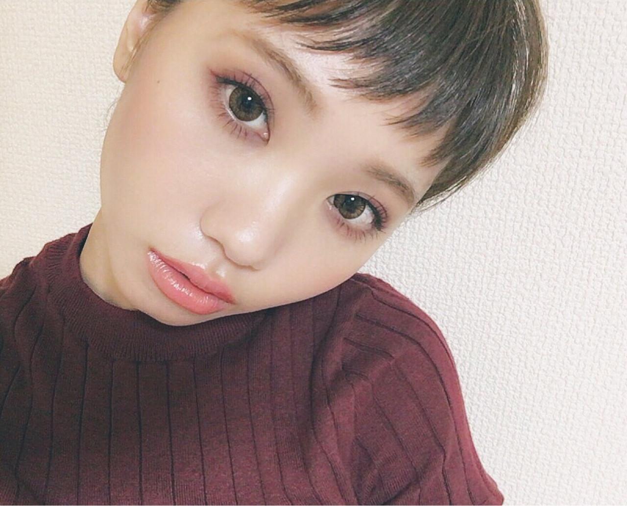 モード ミディアム 秋 ボルドー ヘアスタイルや髪型の写真・画像 | 加藤 優希 /