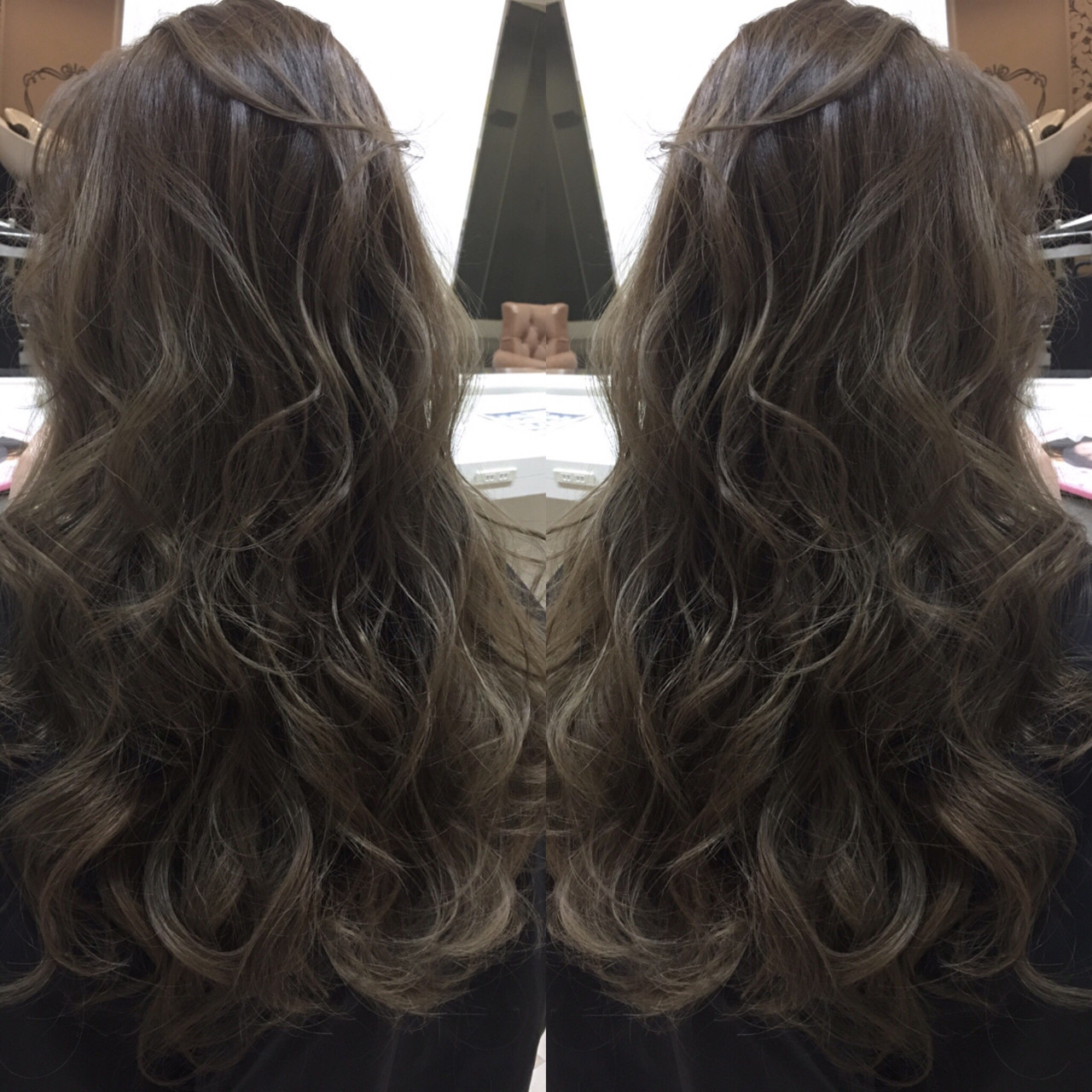 アッシュ 暗髪 ハイライト グラデーションカラー ヘアスタイルや髪型の写真・画像 | 井上一平 / Blue Hair LAU 心斎橋