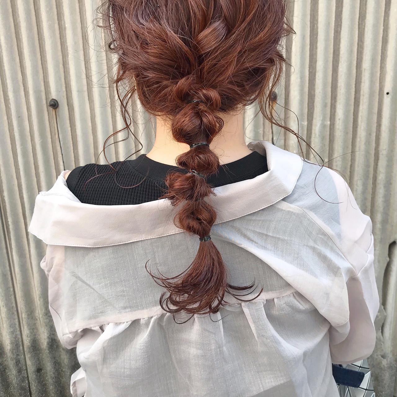カジュアル セミロング ガーリー 簡単ヘアアレンジ ヘアスタイルや髪型の写真・画像   粉川菜月 / oli