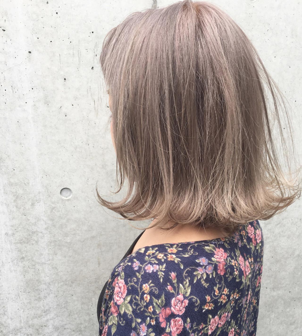 インナーカラー ハイライト デート アッシュ ヘアスタイルや髪型の写真・画像 | 北村 亮 / LAiLY by GARDEN