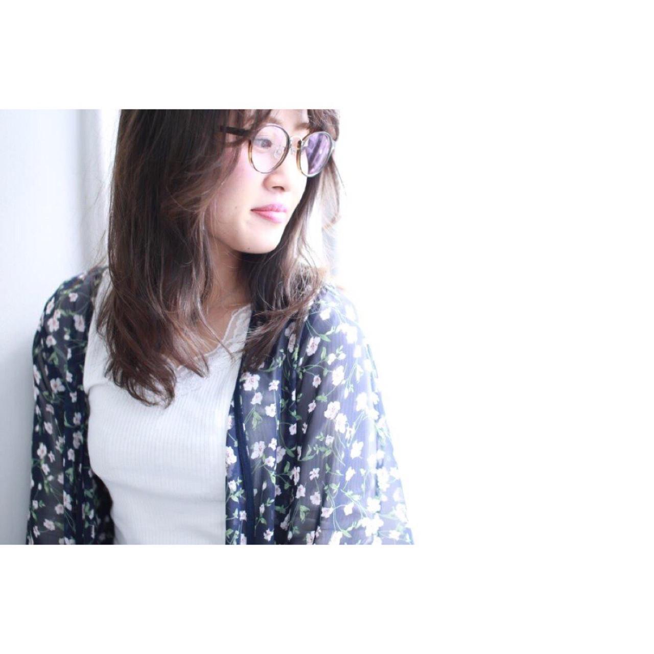 大人女子 透明感 セミロング スモーキーカラー ヘアスタイルや髪型の写真・画像 | Yumi Hiramatsu / Sourire Imaizumi【スーリール イマイズミ】