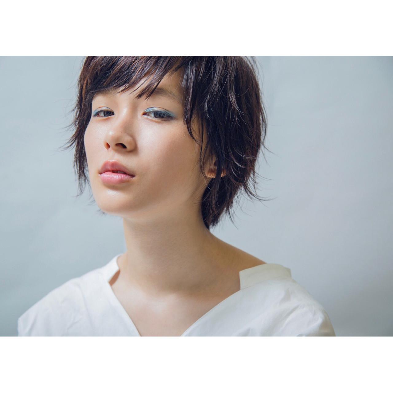 大人女子 梅雨 ショートボブ ストリート ヘアスタイルや髪型の写真・画像 | 藤原駿 / apish ginza