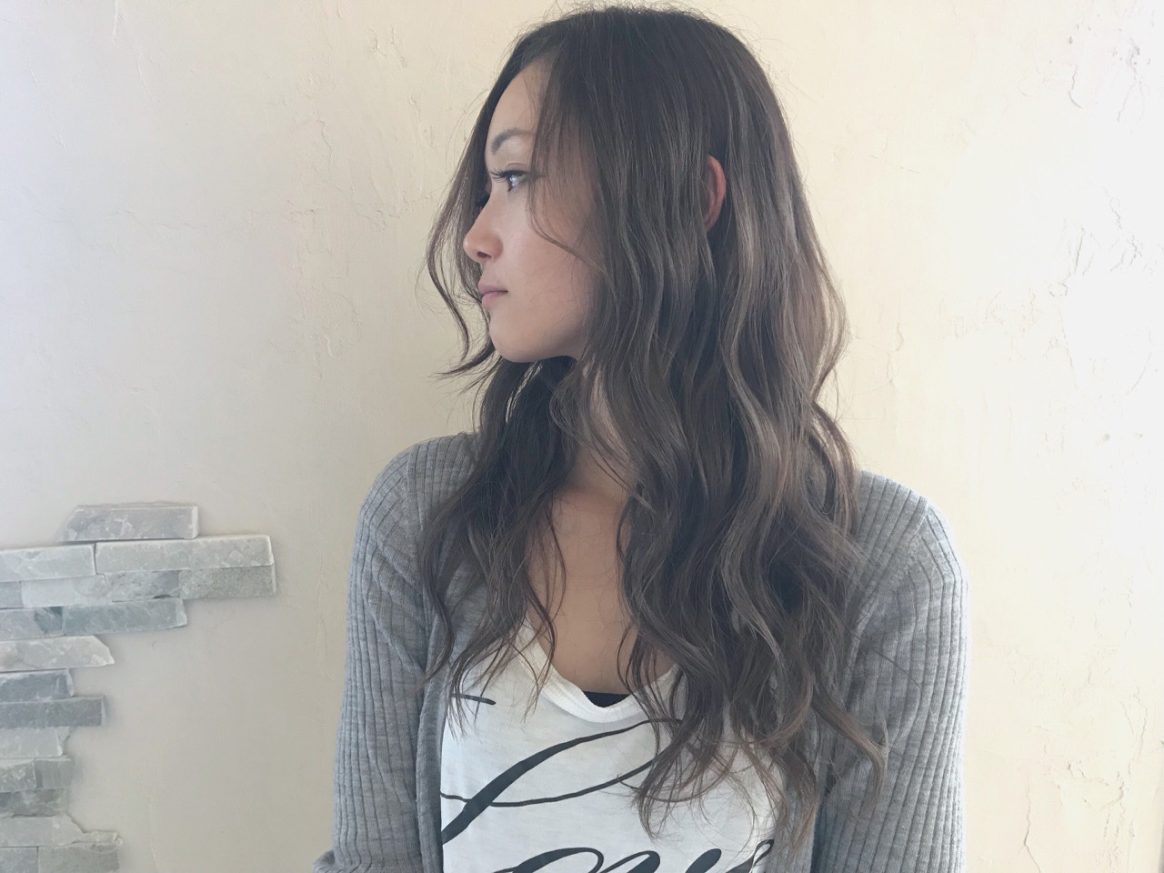 アンニュイ フェミニン 外国人風カラー ロング ヘアスタイルや髪型の写真・画像 | 中山俊一 / valucetiri