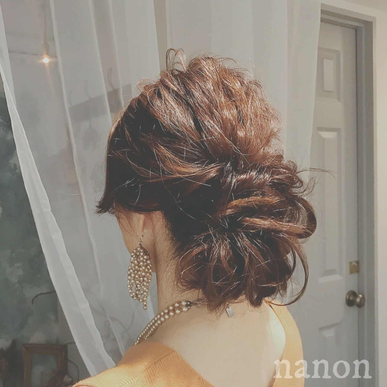 デート 大人かわいい ナチュラル パーティ ヘアスタイルや髪型の写真・画像 | 浦川由起江 / nanon