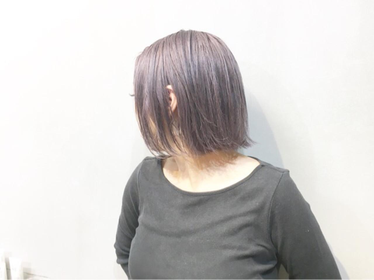 ピンクラベンダー ラベンダーピンク ラベンダー ラベンダーアッシュヘアスタイルや髪型の写真・画像