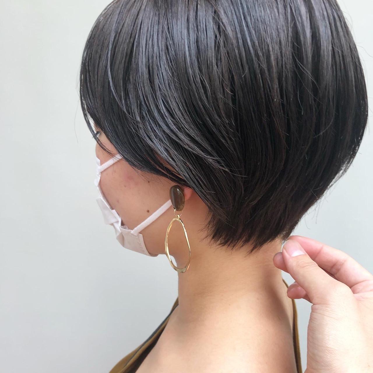 ショートヘア ショート ショートボブ ナチュラル ヘアスタイルや髪型の写真・画像 | カネコミキヒロ / Neolive aim 横浜西口店
