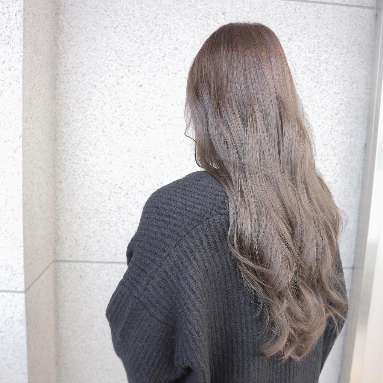 アッシュ エレガント ブルージュ 上品ヘアスタイルや髪型の写真・画像