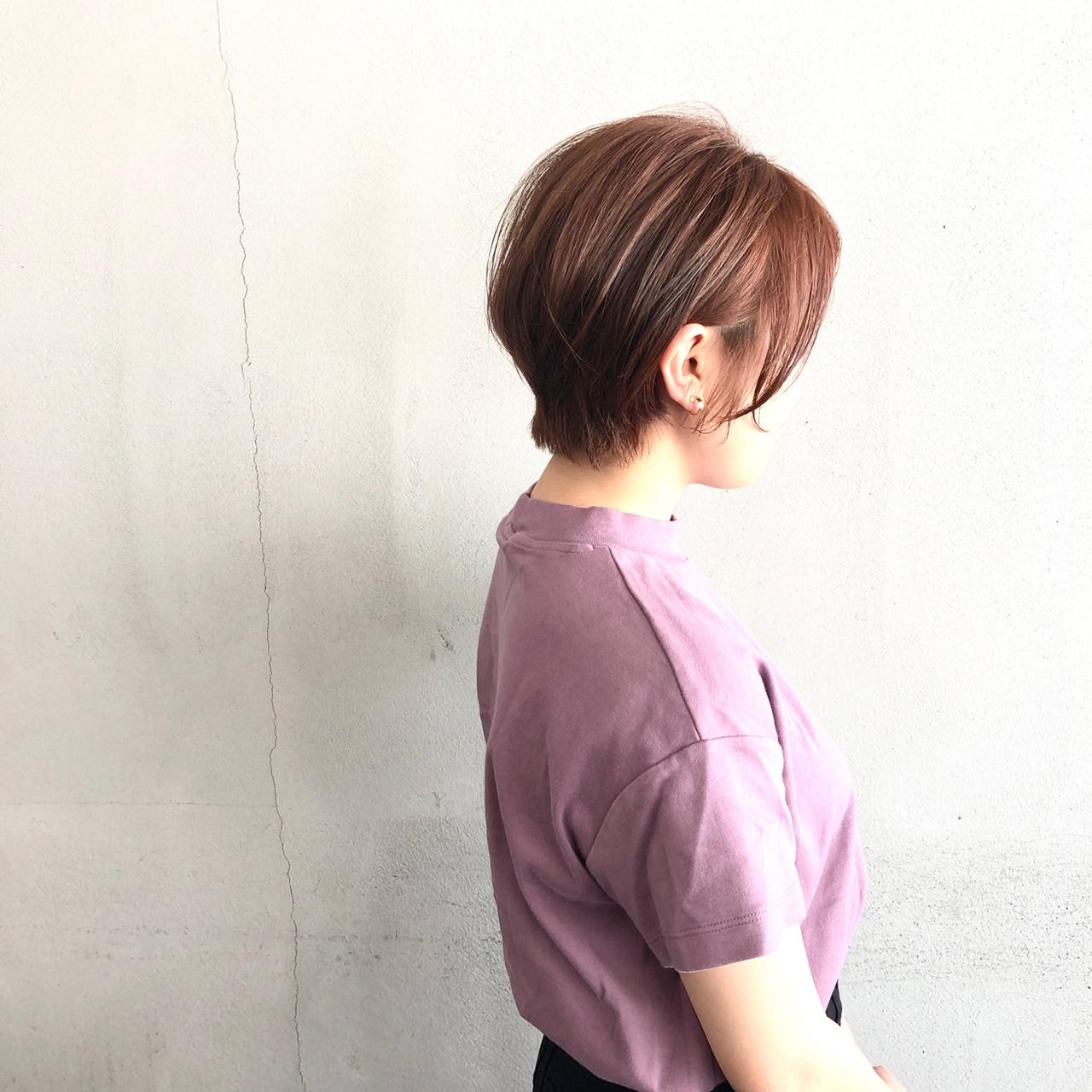 簡単スタイリング 小顔ショート 大人ショート ショート ヘアスタイルや髪型の写真・画像 | 葛西 祐介【#tag】 / #tag