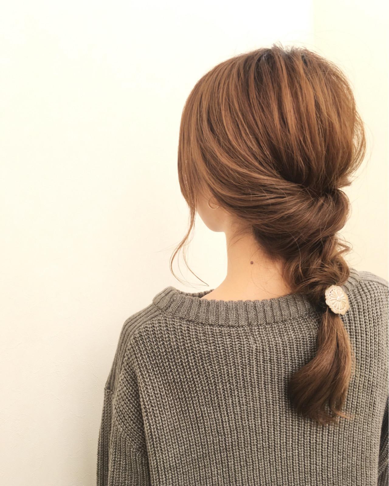 大人女子 ロング 小顔 簡単ヘアアレンジ ヘアスタイルや髪型の写真・画像 | 桑村亮太/CALIF hair store / 函館/CALIF hair store/キャリフ ヘアストア