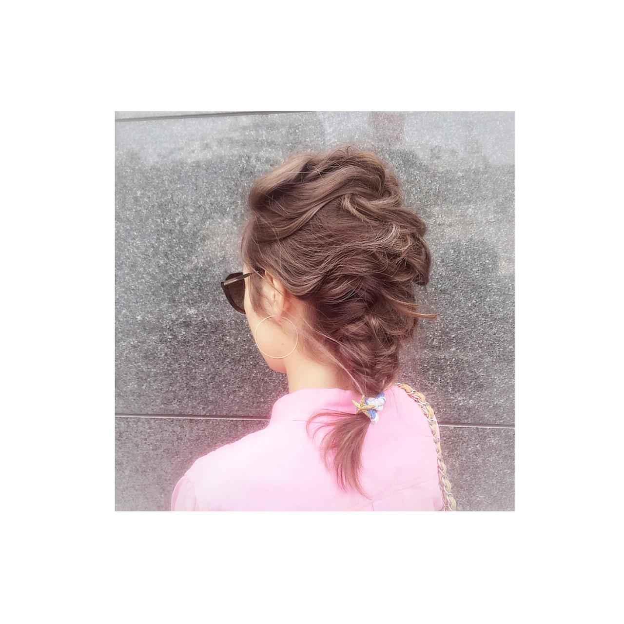簡単ヘアアレンジ ショート ゆるふわ 外国人風 ヘアスタイルや髪型の写真・画像 | teddy / grauge hair