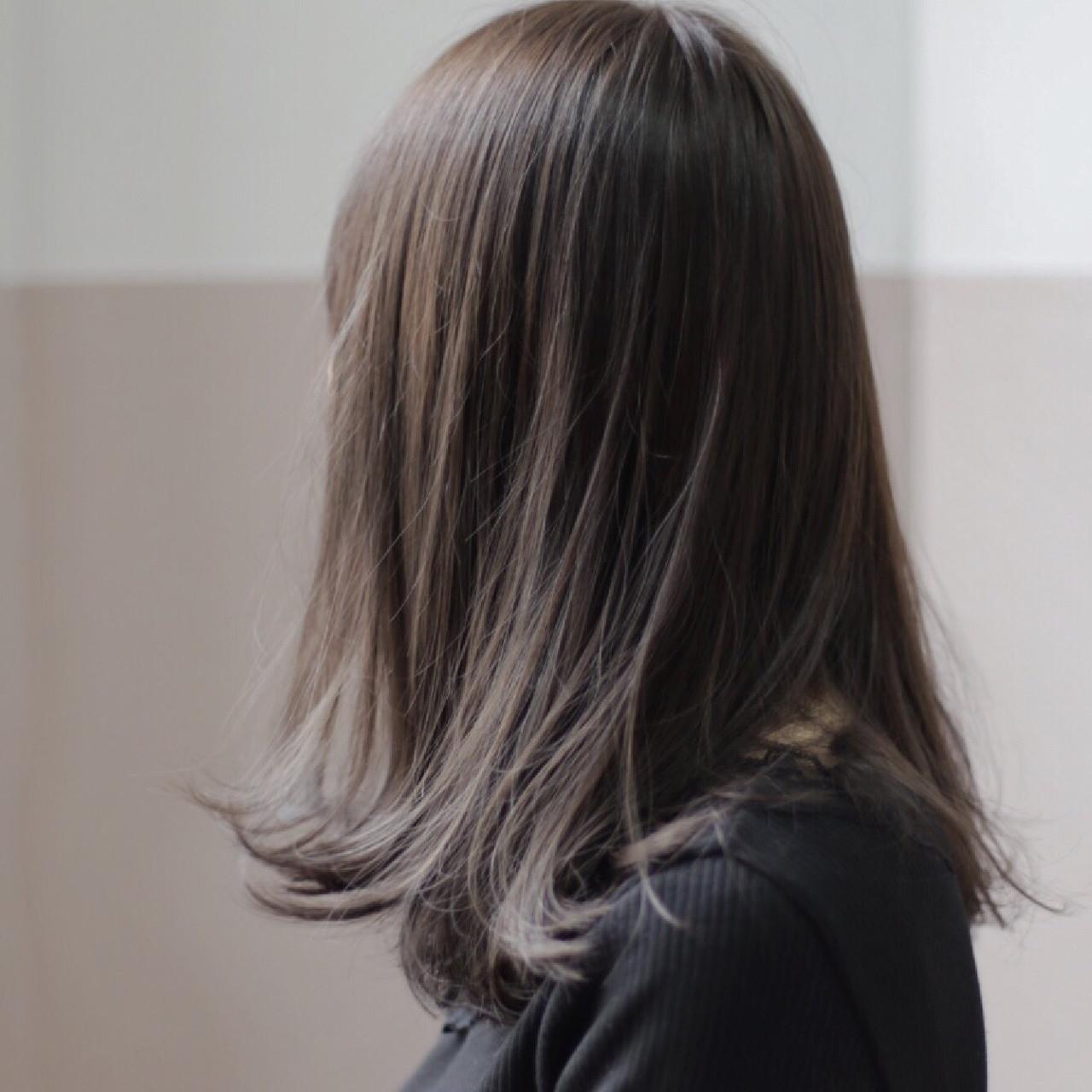 ミディアム ナチュラル ボブ 外国人風カラーヘアスタイルや髪型の写真・画像