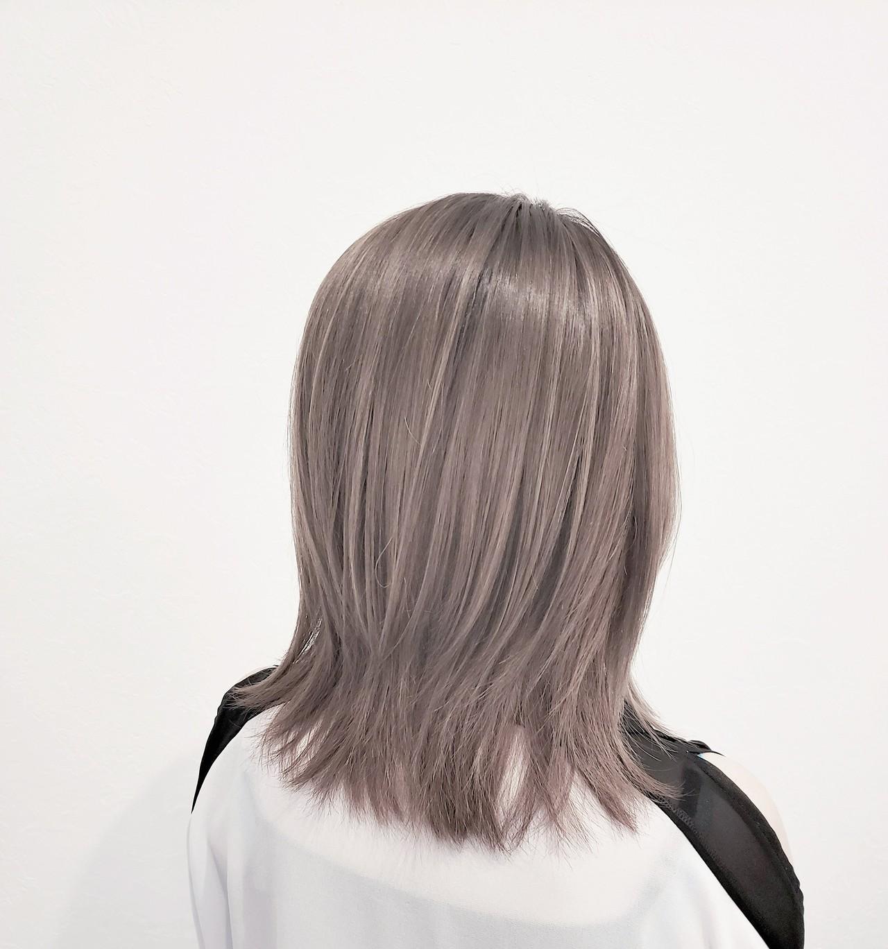 ハイライト 透明感 髪質改善トリートメント ブリーチヘアスタイルや髪型の写真・画像