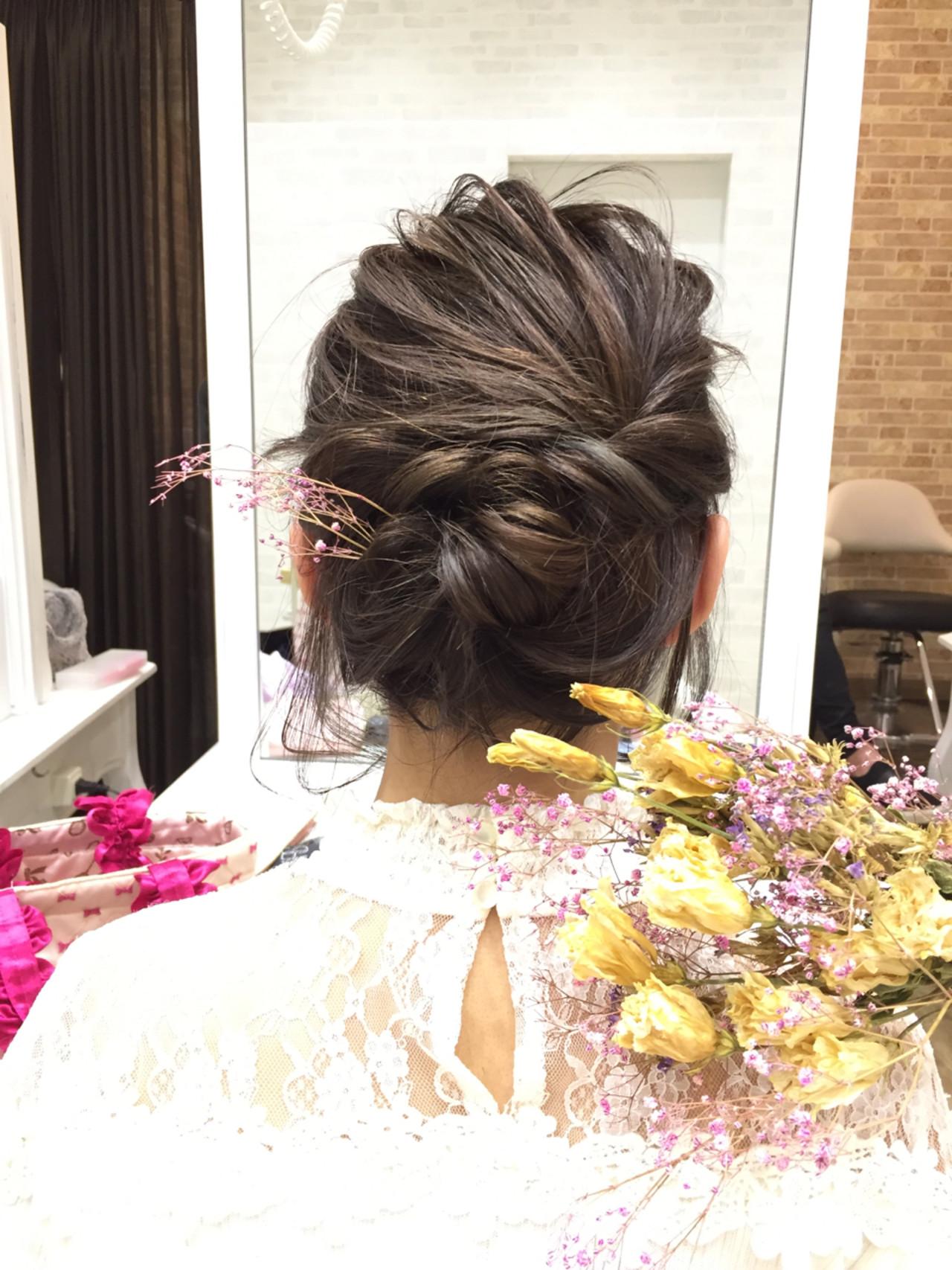 デート ボブ フェミニン ヘアアレンジヘアスタイルや髪型の写真・画像