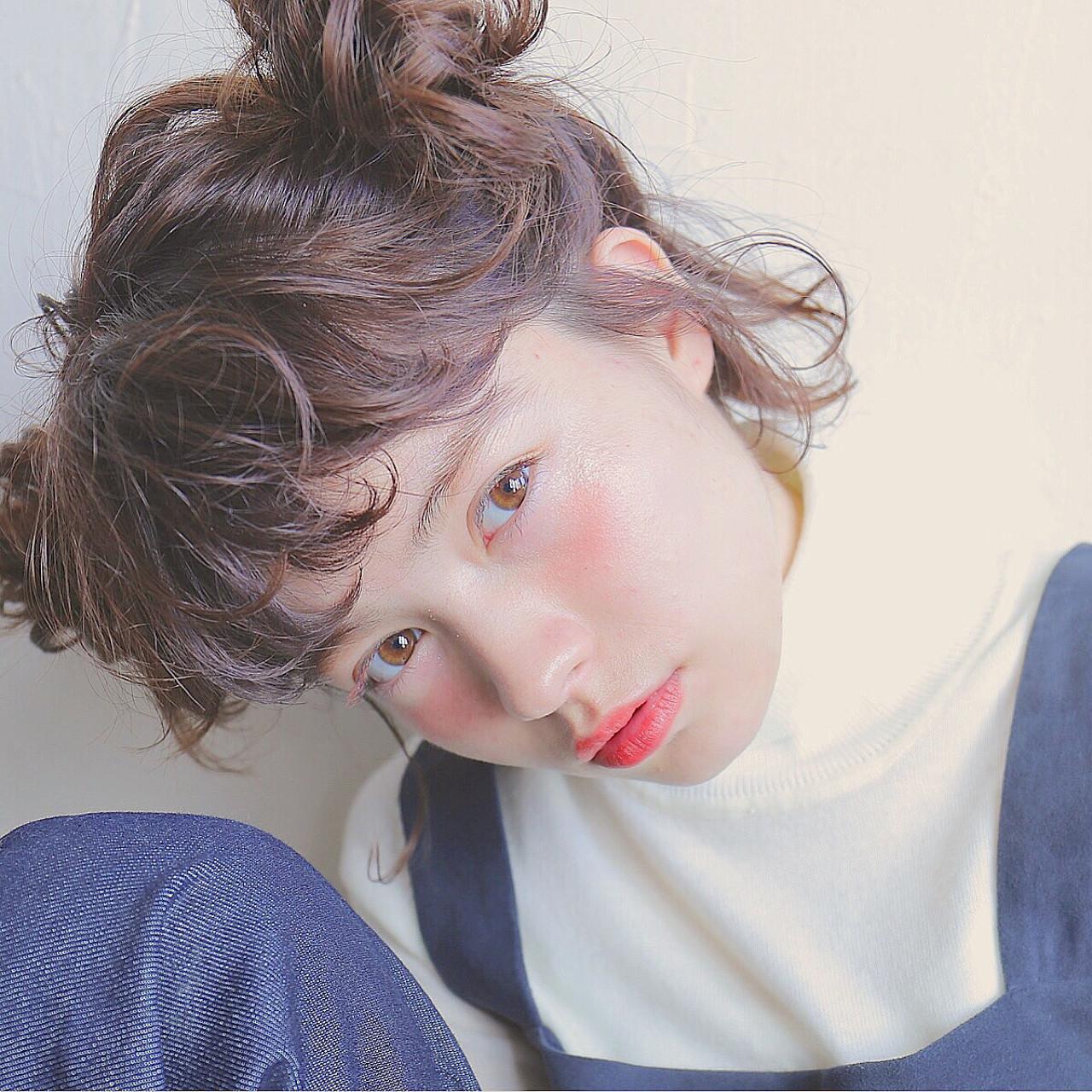 ヘアアレンジ ブラウン 外国人風 ボブ ヘアスタイルや髪型の写真・画像 | 米澤香央里 / SYAN