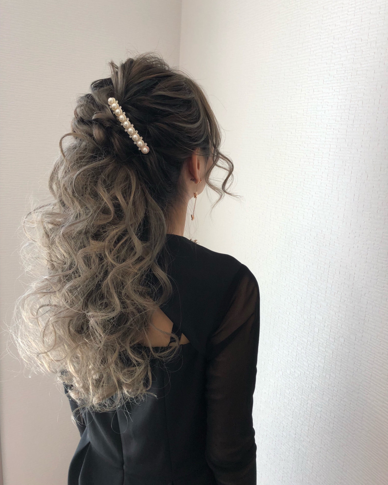 フェミニン ハーフアップ ヘアアレンジ パーティ ヘアスタイルや髪型の写真・画像 | mai / HAIR SALON STELLA