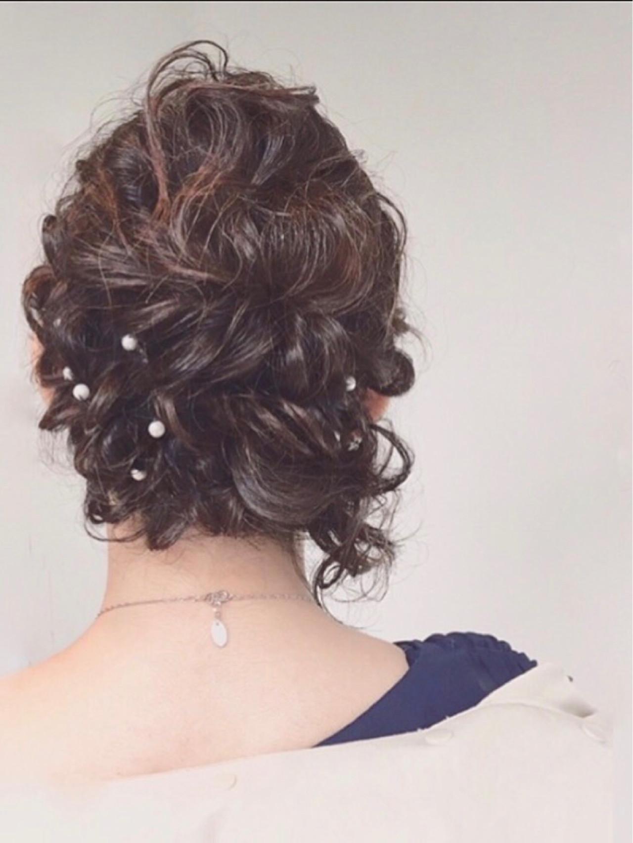 ハーフアップ ショート ヘアアレンジ ミディアム ヘアスタイルや髪型の写真・画像 | ◆Takumi◆ / Beronica