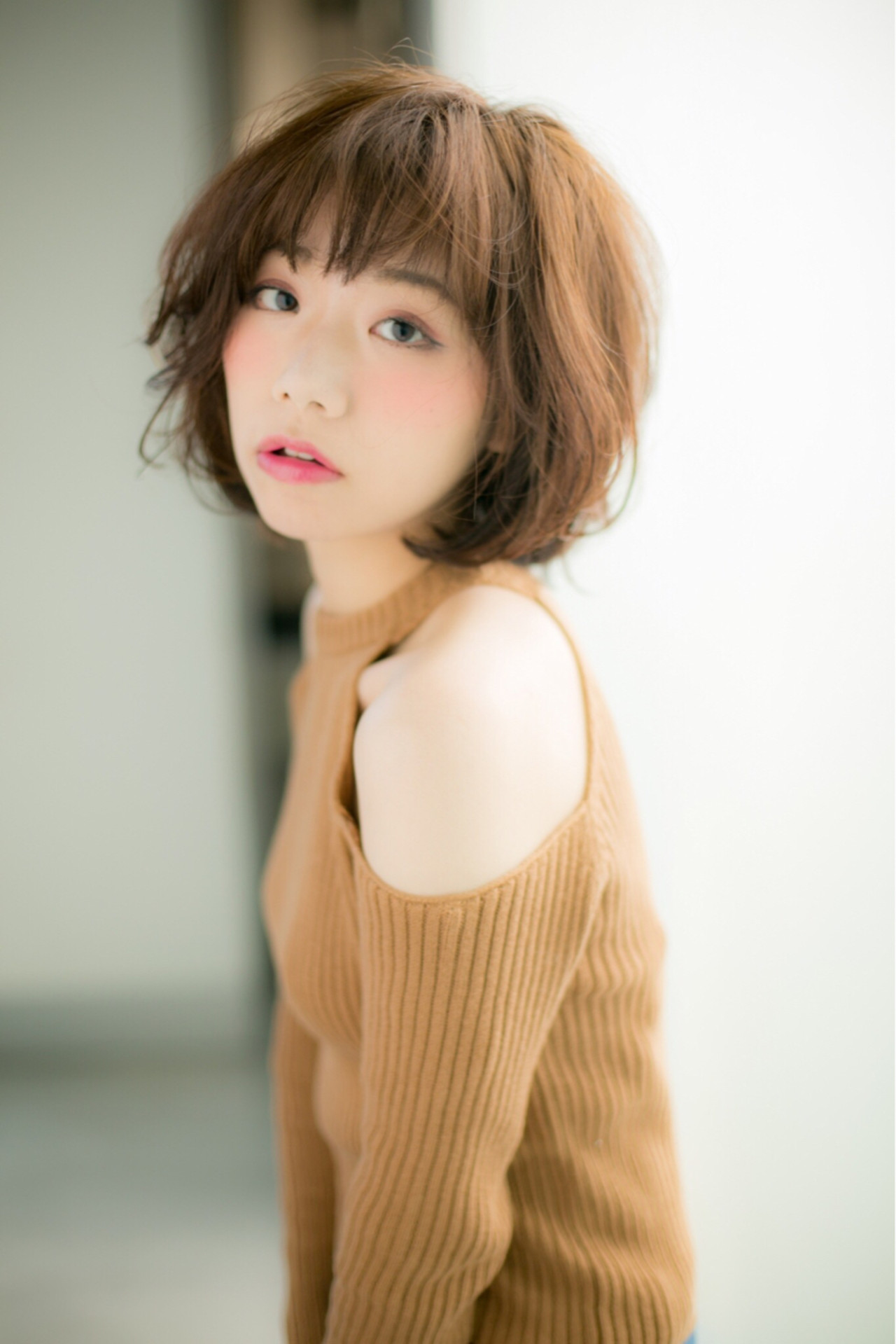 パーマ 大人女子 ボブ ナチュラル ヘアスタイルや髪型の写真・画像 | risa /