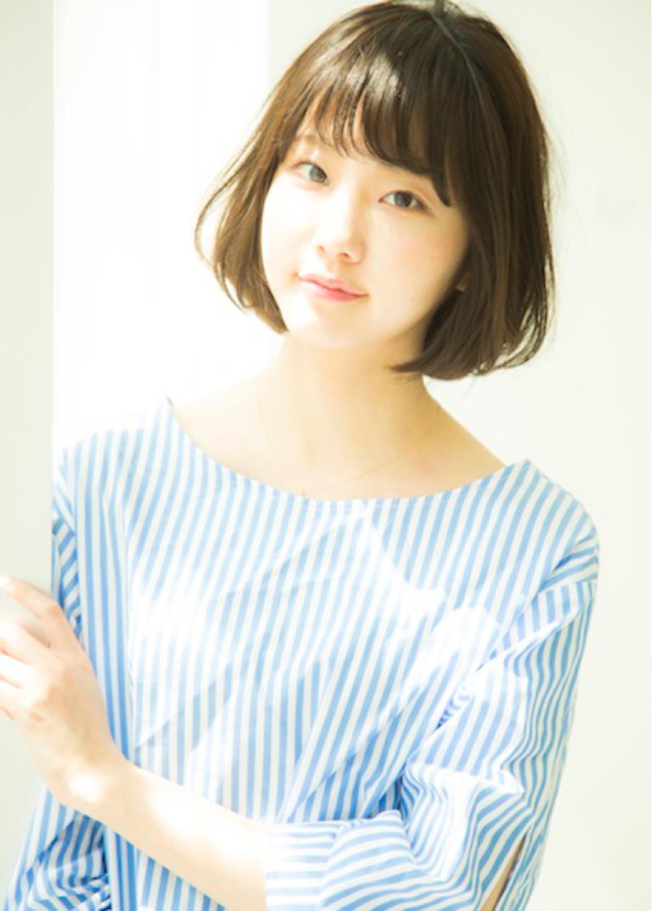 大人かわいい イルミナカラー ボブ ゆるふわ ヘアスタイルや髪型の写真・画像 | 力石サトシ HOMIE Tokyo /   HOMIE TOKYO