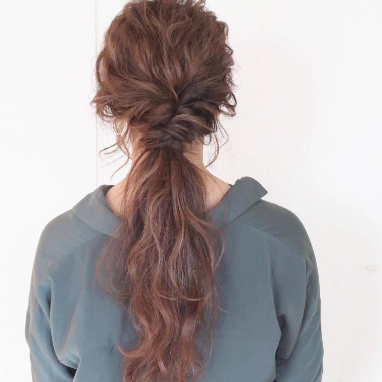 結婚式 ロング ゆるふわ ヘアアレンジヘアスタイルや髪型の写真・画像