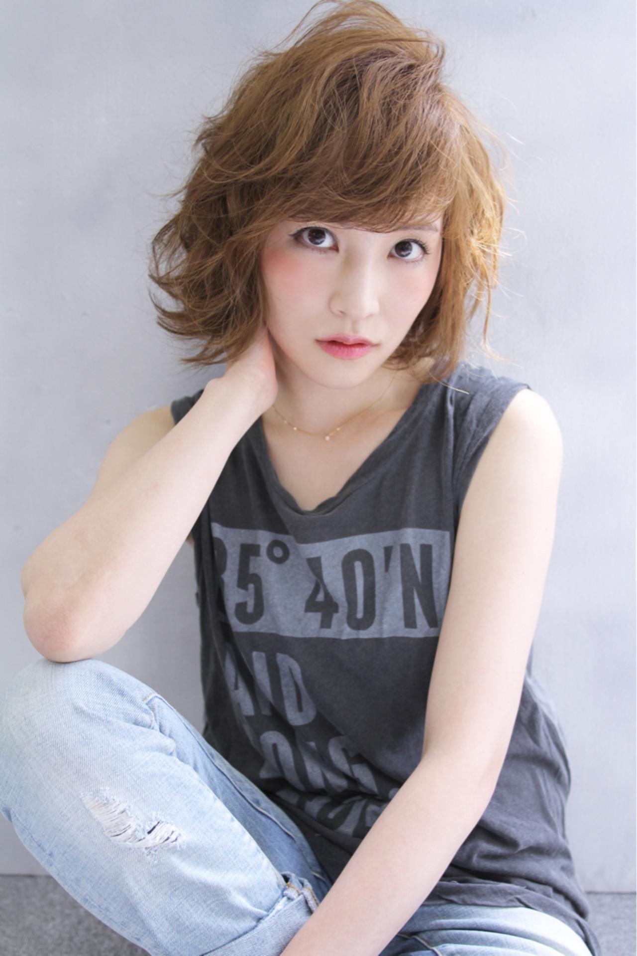 アッシュ ボブ 外国人風 ゆるふわ ヘアスタイルや髪型の写真・画像 | 清水 孝純 / Rose