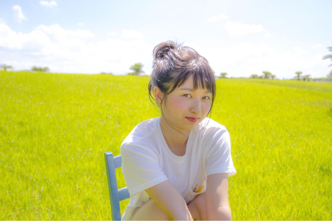 色気 夏 ミディアム 簡単ヘアアレンジ ヘアスタイルや髪型の写真・画像   岩切陽平 / Hair&Beauty AURA