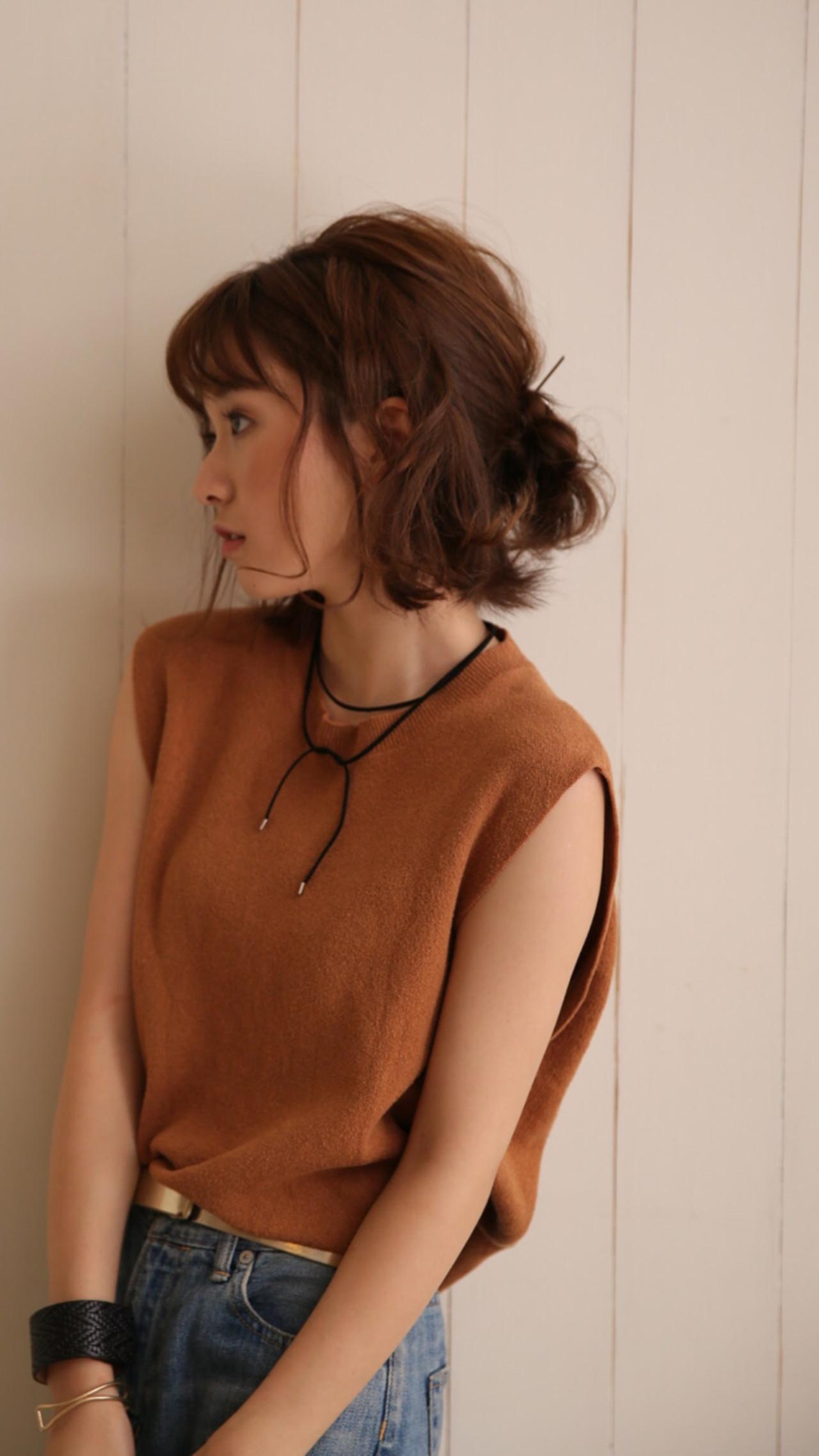 ゆるふわ ヘアアレンジ 簡単ヘアアレンジ ストリートヘアスタイルや髪型の写真・画像