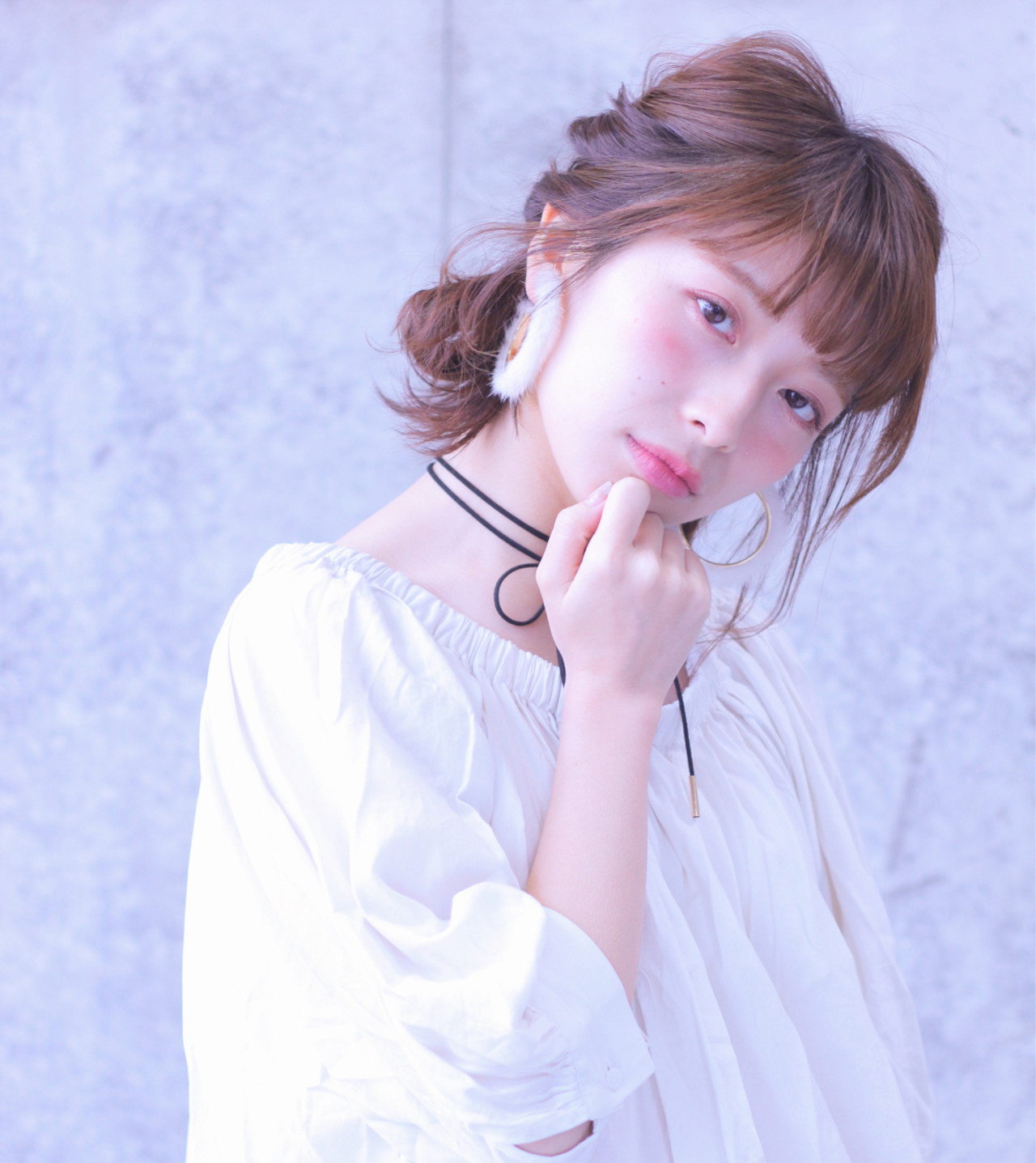 ヘアアレンジ くるりんぱ ボブ 色気 ヘアスタイルや髪型の写真・画像 | Wataru Maeda / cache cache