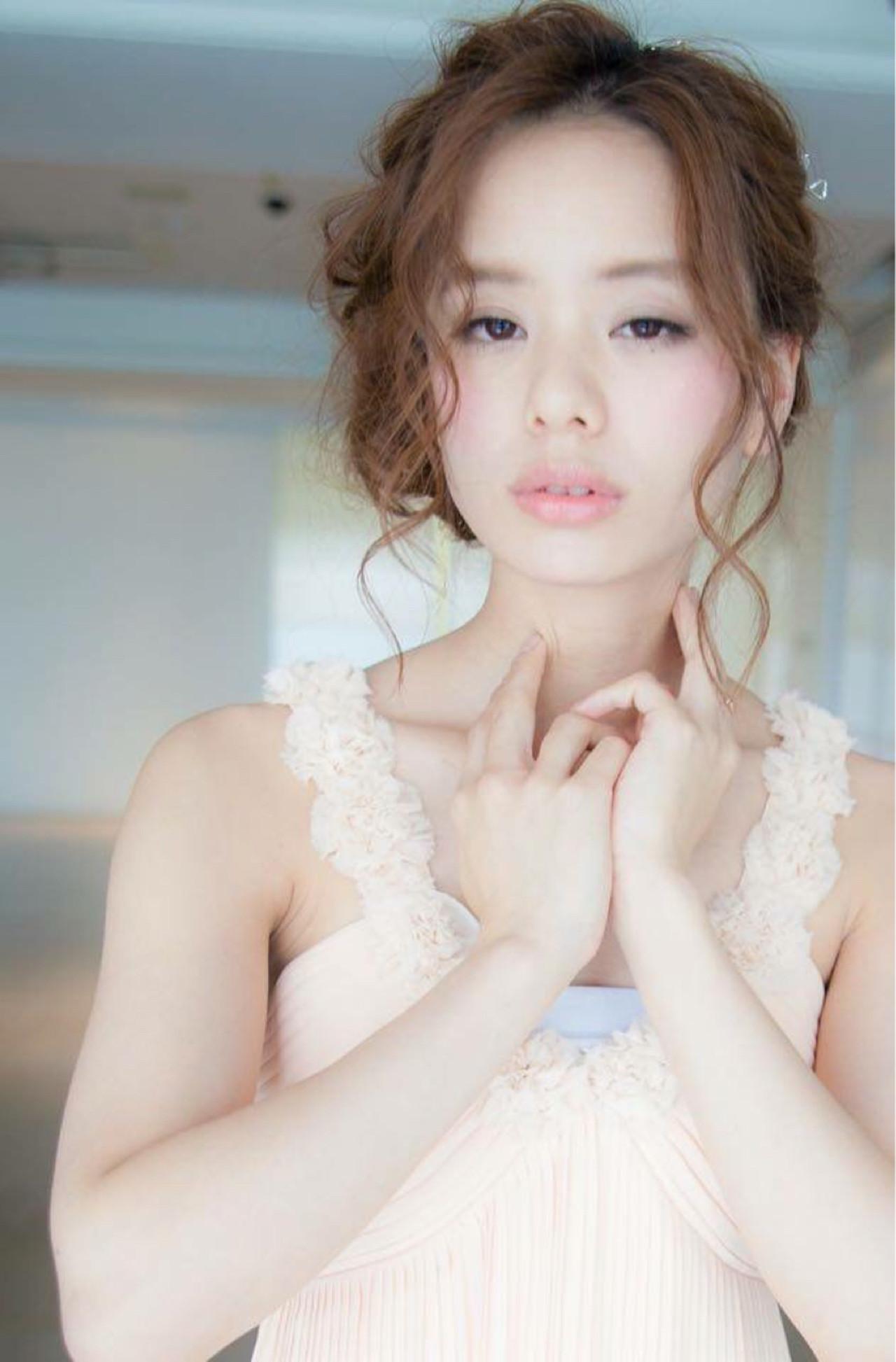 簡単ヘアアレンジ ショート ゆるふわ 愛され ヘアスタイルや髪型の写真・画像   田中 紗貴 /