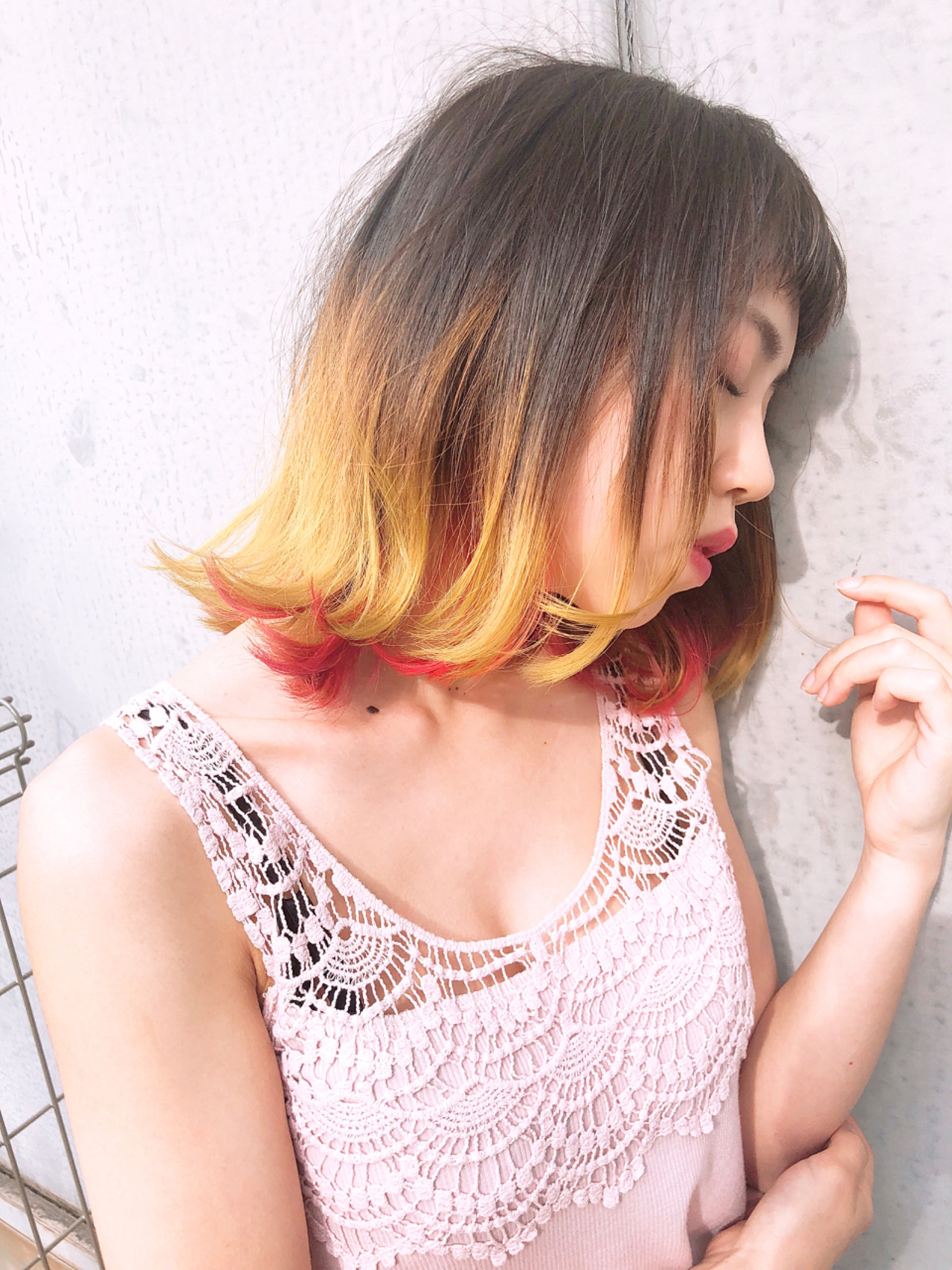 ガーリー ボブ ヘアスタイルや髪型の写真・画像   浜田敦史 / Tiffa栄