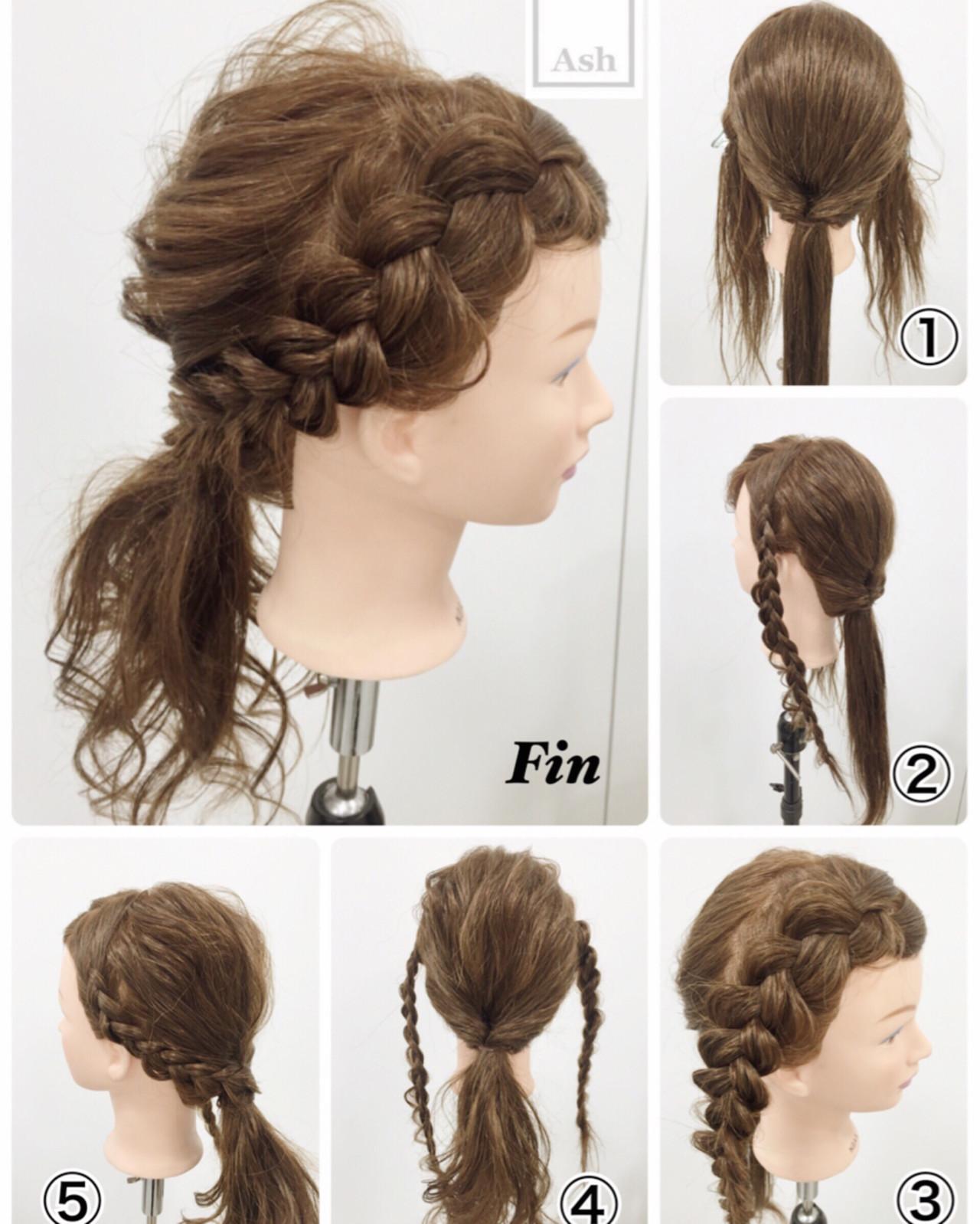ハーフアップ ヘアアレンジ アッシュ ショート ヘアスタイルや髪型の写真・画像 | 岩田 芳郎 / Ash 渋谷