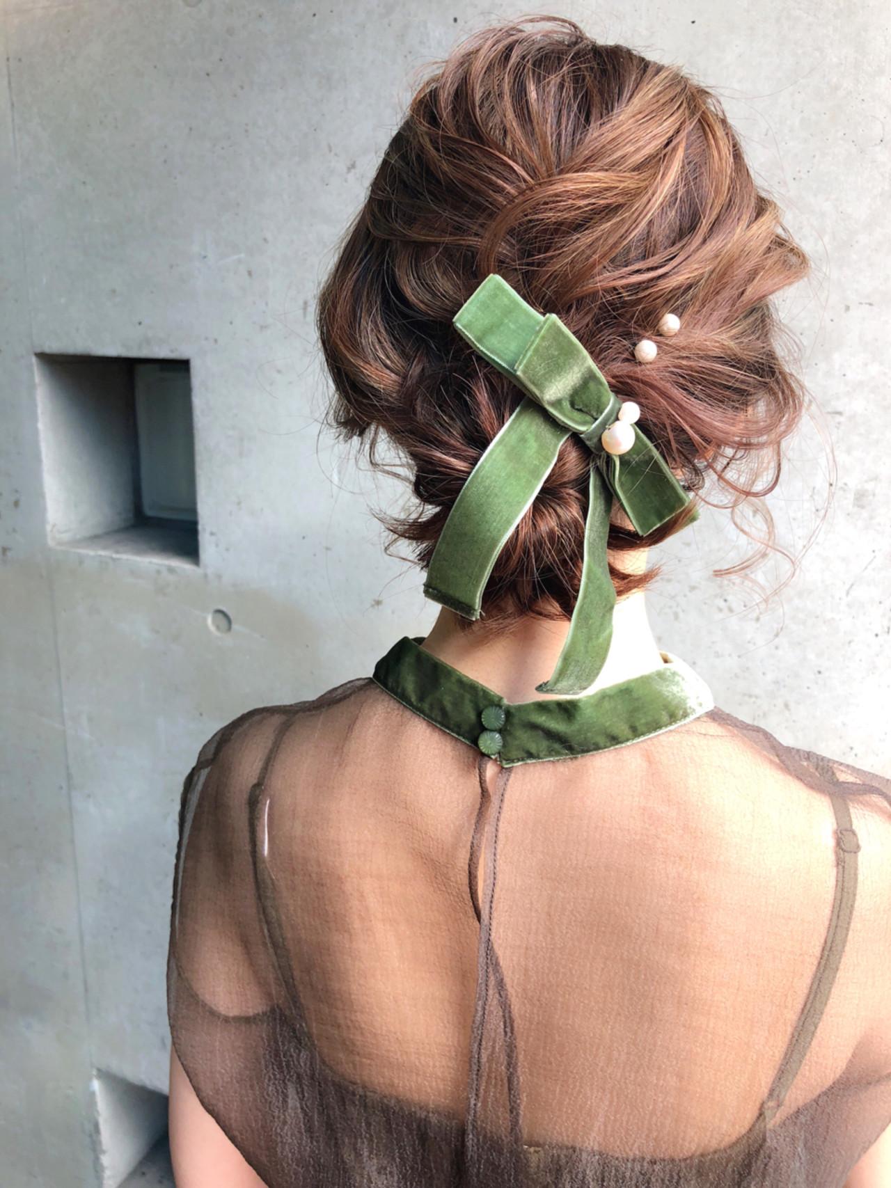 ミディアム 謝恩会 成人式 ヘアアレンジ ヘアスタイルや髪型の写真・画像   MOTAI / Wille / Wille