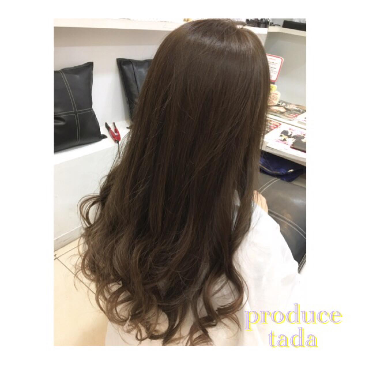 アッシュ 外国人風 グラデーションカラー 暗髪 ヘアスタイルや髪型の写真・画像   多田 千裕 / produce町田店