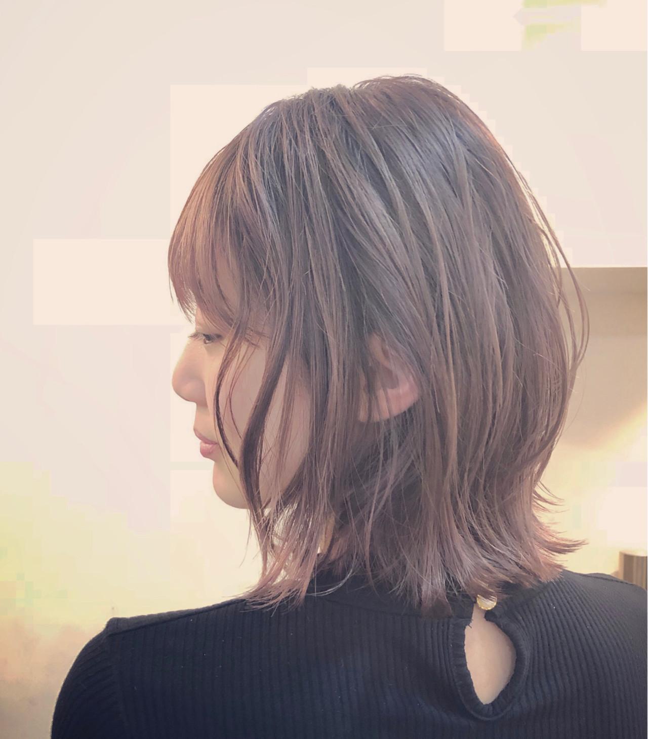 ナチュラル グラデーションカラー バレイヤージュ ハイライト ヘアスタイルや髪型の写真・画像   RUMINA //高田ゆみこ / Rumina