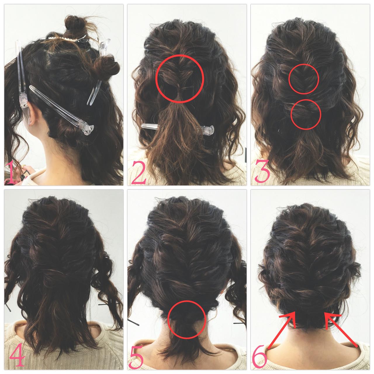 ボブ ロープ編み くるりんぱ 大人かわいい ヘアスタイルや髪型の写真・画像 | SAKURA 村上 ゆうすけ / Lifesalon SAKURA