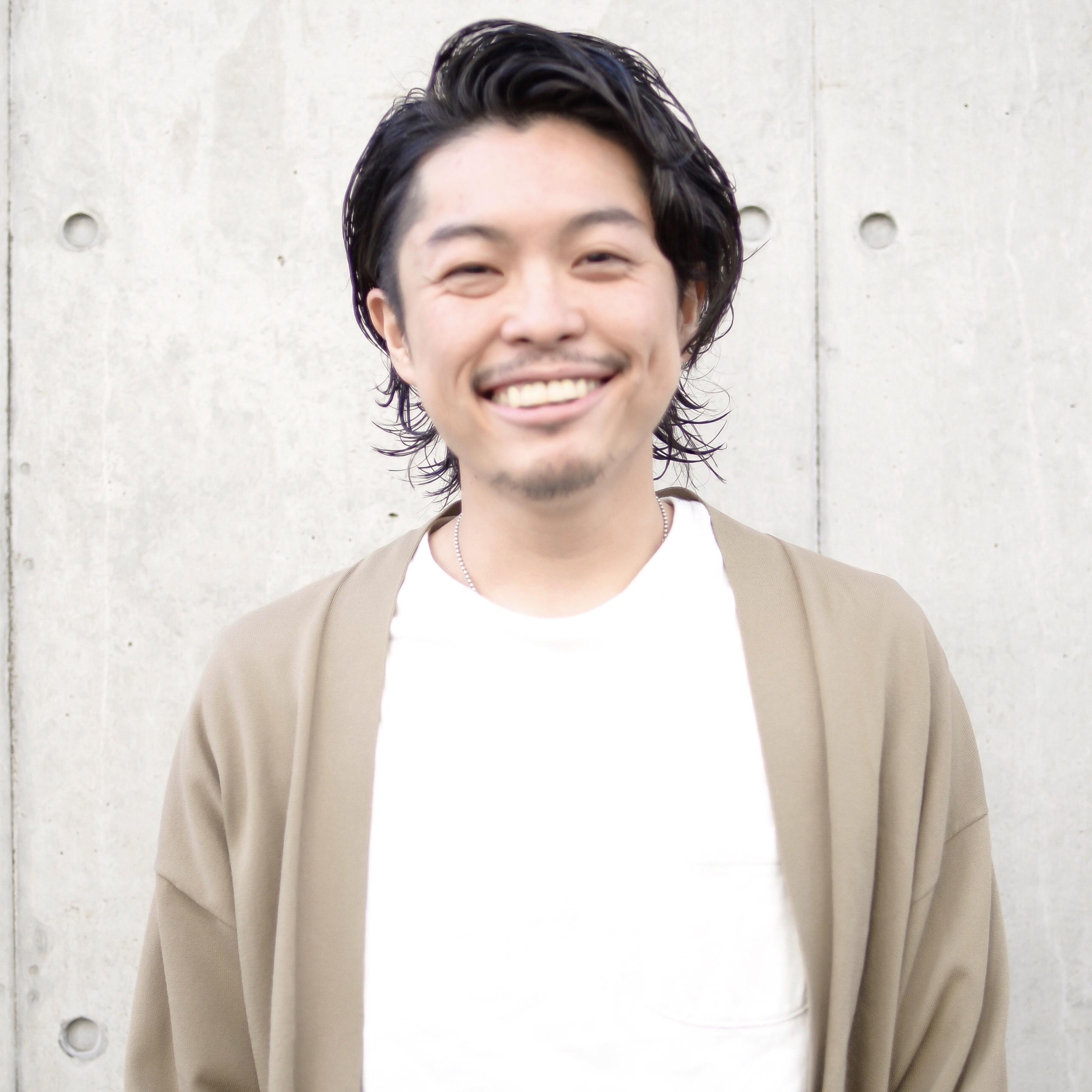 萩原 翔志也/ブリーチなしグレージュ/ストレート